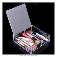 Hot sale transparence acrylic cosmetic case for retailer
