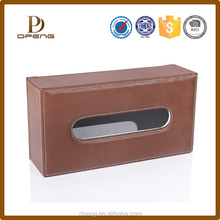 alibaba express brown leather tissue box made in China