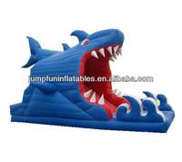 small design shark indoor slides/inflatable kids slider for sale