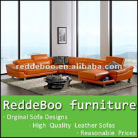 Modern Leather wooden sofa set designs 2293