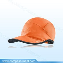 orange color sports cap