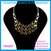 Wholesale big metal statement necklace,beautiful bronze necklace for women