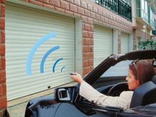 automatic electrical fold up garage doors with various colors