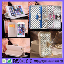Custom DIY Diamond Bow-Knot 3D Bling Mobile Phone Case For Iphone 4s