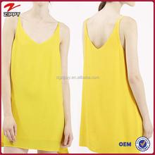 Sexy V neckline high apex slip dress 2015