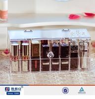 Factory custom clear acrylic nail polish display stand/wall mounted nail polish display rack