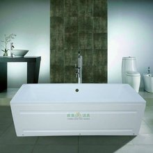 Popular in Europe square double apron bathtub for baby