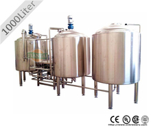 1000L stainless stell small beer making equipment for sale
