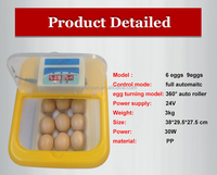 WQ-09 PID control electronic make 36 pcs quail/brid eggs hatching machine