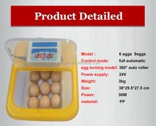 Wq-09 control PID electrónico maquillaje 36 unids codorniz / brid huevos para incubar automático