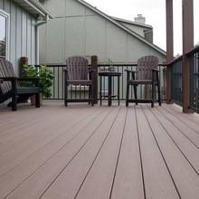 wood plastic composite deck tiles floor interlock/anti-UV wpc outdoor flooring