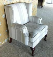 American villa most upholstered elegant european style fabric wing back club sofa chair/pub sofa chairs