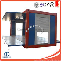 Open side 20ft container house for Prefab container shop