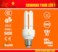 9mm 3U Energy Saving Light Bulb 15W 10000H CE QUALITY