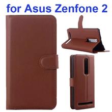 Litchi Texture Smart Phone Mobile Accessories PU Leather Flip Case for Asus Zenfone 2