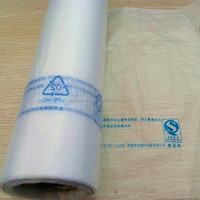 Transparent/clear HDPE/LDPE plastic bag on roll