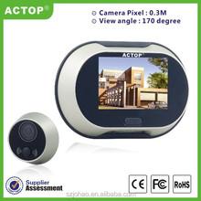 Alibaba wholesale door viewer peephole 3.5 inch screen for dingdong sound