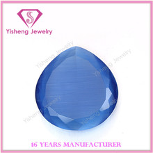 Large Table Synthetic Faceted Blue Opal Cat Eye Stone
