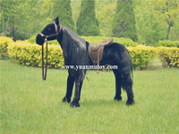 Black wig horse toy manufacture stuffed animal