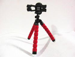"Flexible 7"" red sponge mini camera gorillapod phone tripod"