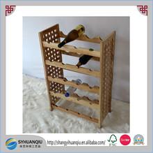 furniture type 20 bottles wooden wine rack