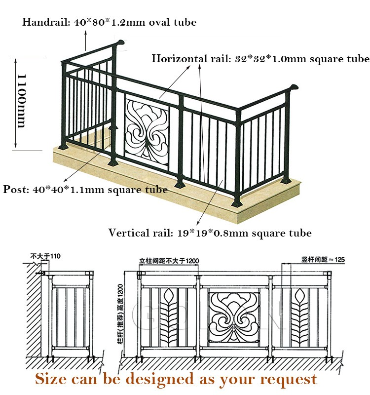 golon factory sale outdoor wrought iron stair railing balcony rh alibaba com