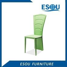 shengfang francés moderno estilo kd verde pvc silla de cuero comedor
