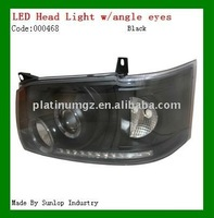 toyota hiace LED Head Light #000468 Hiace headlamp LED with angle eyes led head light for hiace