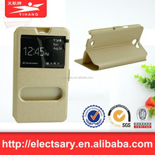 leather phone sets/window view flip for NOTE2 N7100 China manfacturer