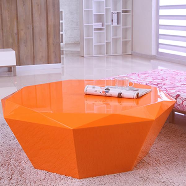 Modern orange coffee table ct003 buy coffee table modern for Orange coffee table