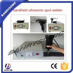 hand held pp woven fabric ultrasonic spot welding equipment
