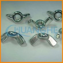 alibaba china din315 carbon steel wing/butterfly nuts with round wings hdg grade 4.8-12.9