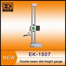 Precision double beam dial height gage with digital counter