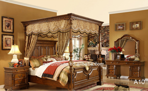 Luxury Canopy Bed,antique Bedroom Furniture Set A10