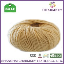 2015 high quality worsted wool yarn for hat,creamy white