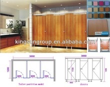 public toilet partition made with HPL panel