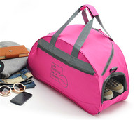 2014 new design fancy travel bag with shoe compartment