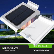 Outdoor High Lumen LED Wall Street Home Light Motion Sensor IP65 Protection Solar Lamp