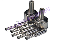 Electroplated diamond hollow core drilling bits