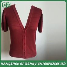 2015 Short Sleeve V Neck Open Front Cardigan Shrug Designs For Women