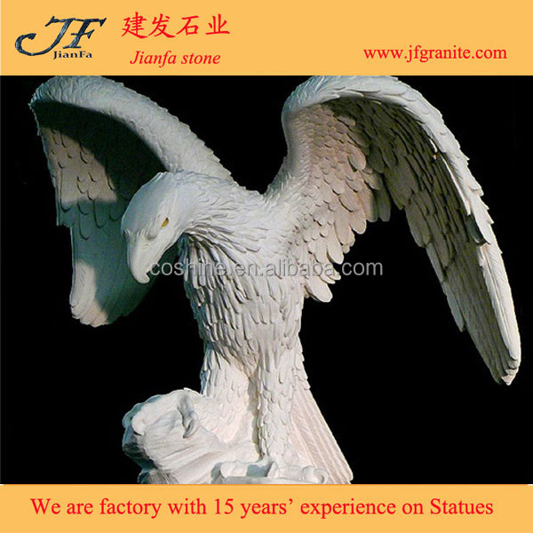 Beauty hand carved outdoor granite stone eagle statue