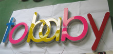 illuminated letters, painted metal led letters and signs, illuminated letters made in china