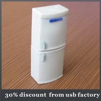 bulk 8GB refrigerator shape customize pvc usb flash drive