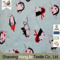 100% polyster polar fleece cute penguin pattern knitted fabric