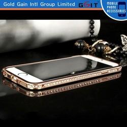 Luxury Bling Diamond Bumper Case for iPhone 6 Plus Aluminum Bumper