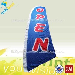 Outdoor advertising swooper flag , open beach flag