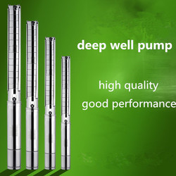 China suppliers stainless steel submersible impeller deep well pump