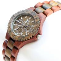 Men Diamond Watches 2015 New Wood Watch Vintage Wooden Watches Red + Green