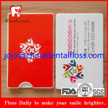 FDA Approved 20M Nylon Dental Floss In Credit Card