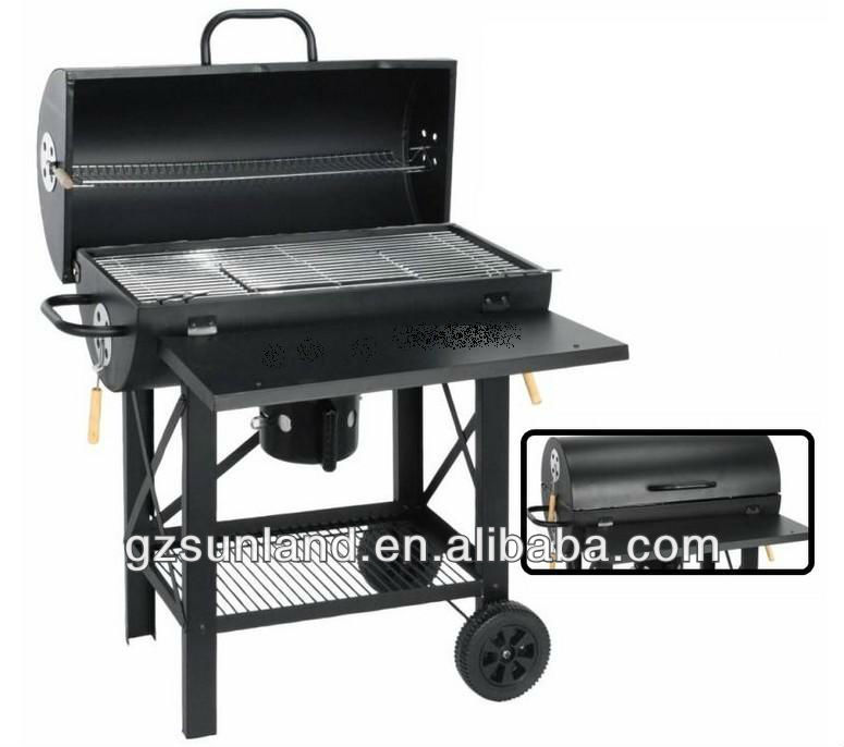 grande barrel bbq grill fumeur avec gs approbation grille. Black Bedroom Furniture Sets. Home Design Ideas